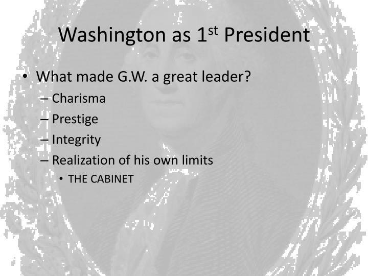 Washington as 1