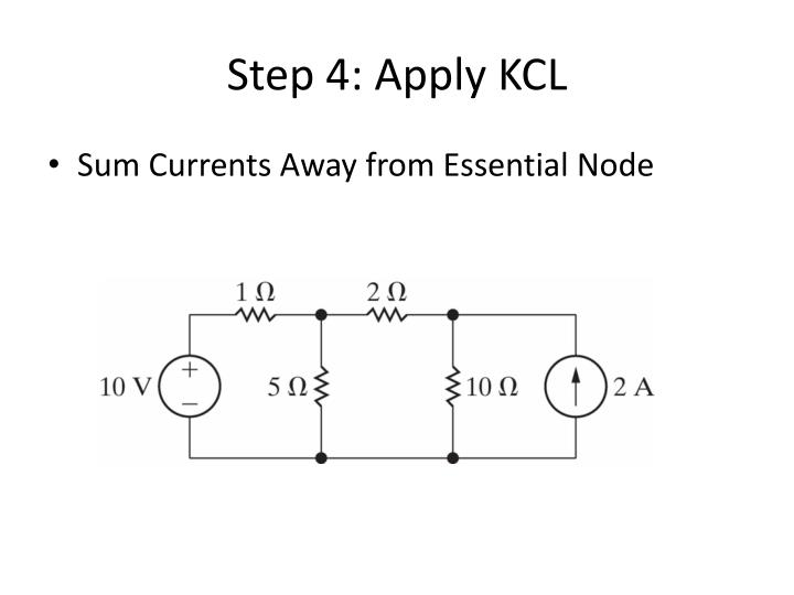 Step 4: Apply KCL