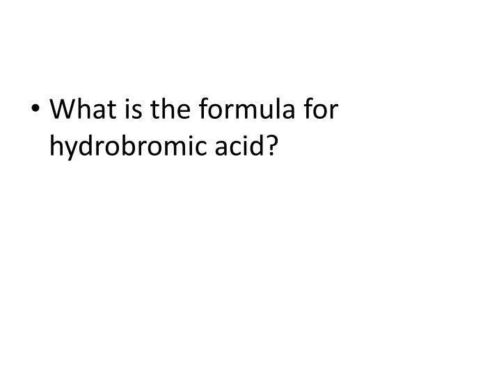 What is the formula for