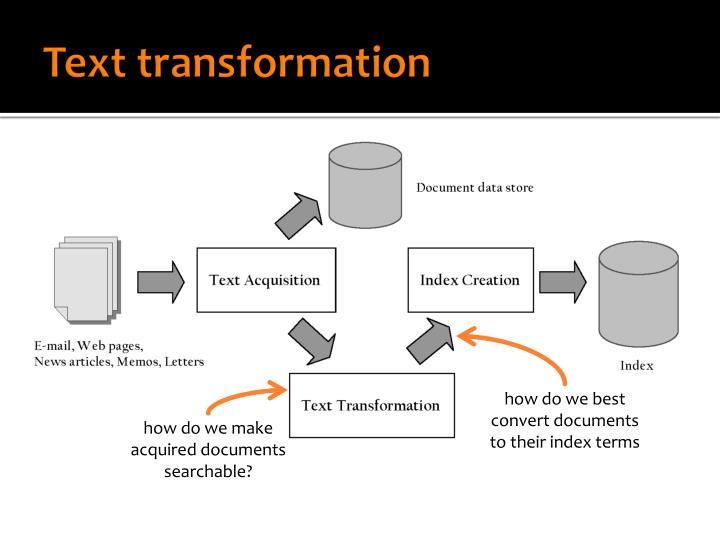 Text transformation