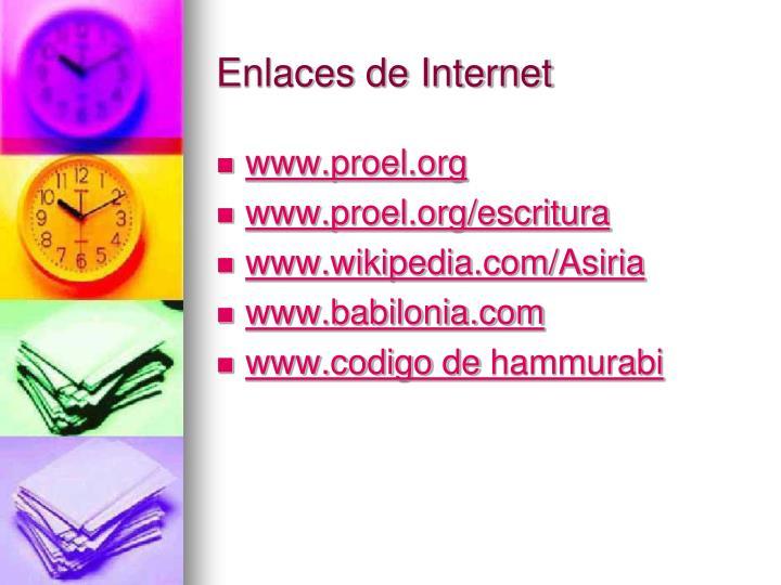 Enlaces de Internet