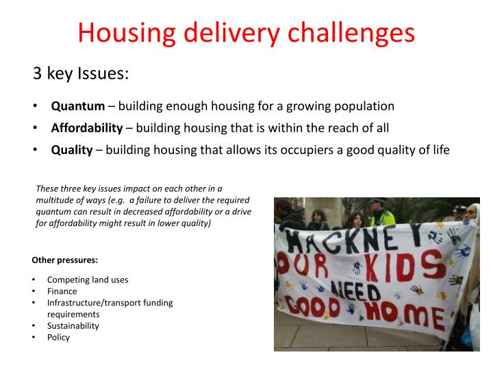 Housing delivery challenges