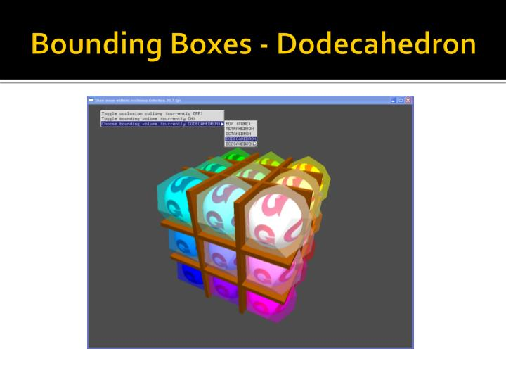 Bounding Boxes - Dodecahedron