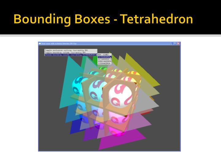 Bounding Boxes - Tetrahedron