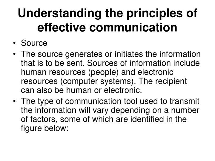 Understanding the principles of effective communication2