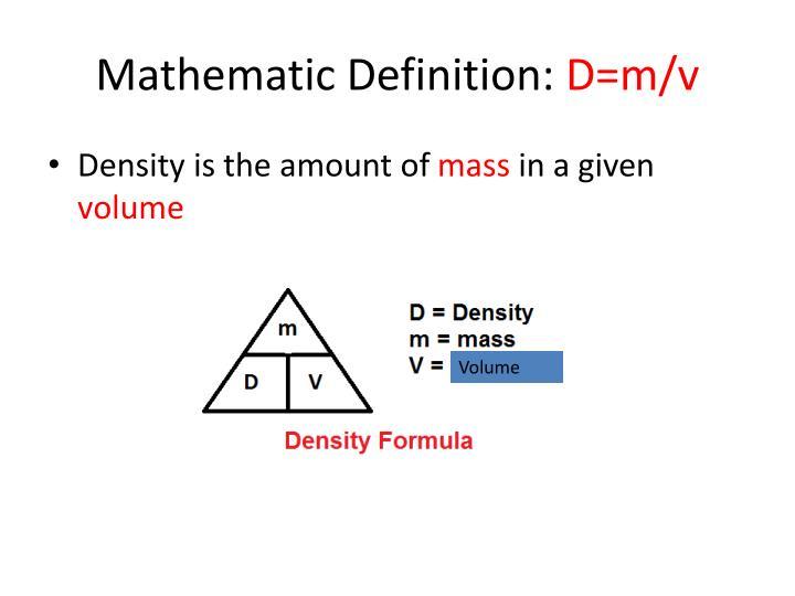 Mathematic Definition: