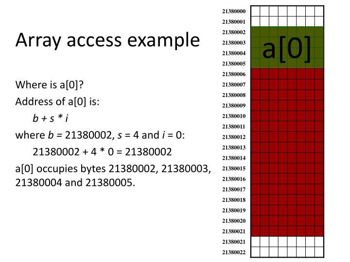 Array access example
