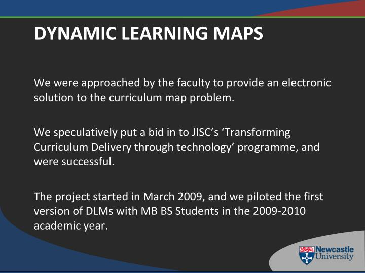 We were approached by the faculty to provide an electronic solution to the curriculum map problem.