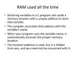 ram used all the time
