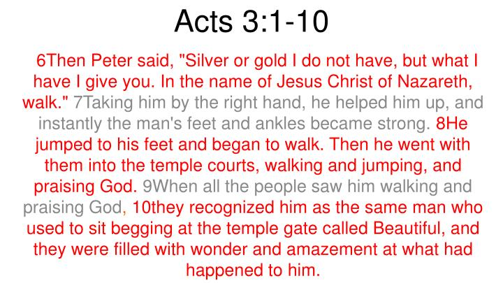 Acts 3:1-10