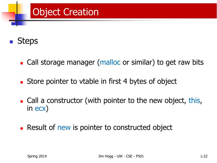 Object Creation