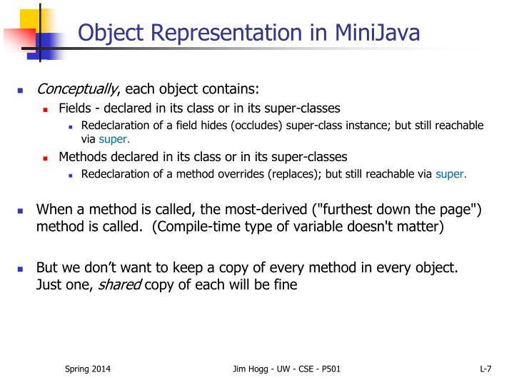 Object Representation in