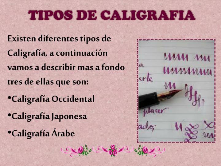 TIPOS DE CALIGRAFIA