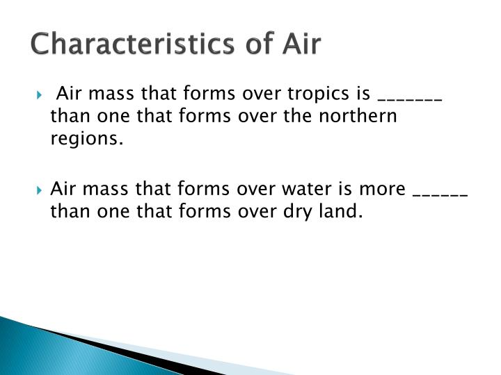 Characteristics of Air