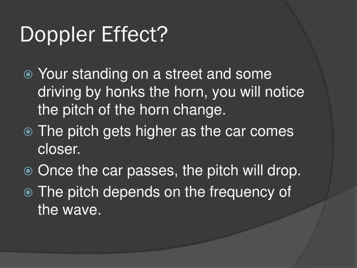 Doppler Effect?
