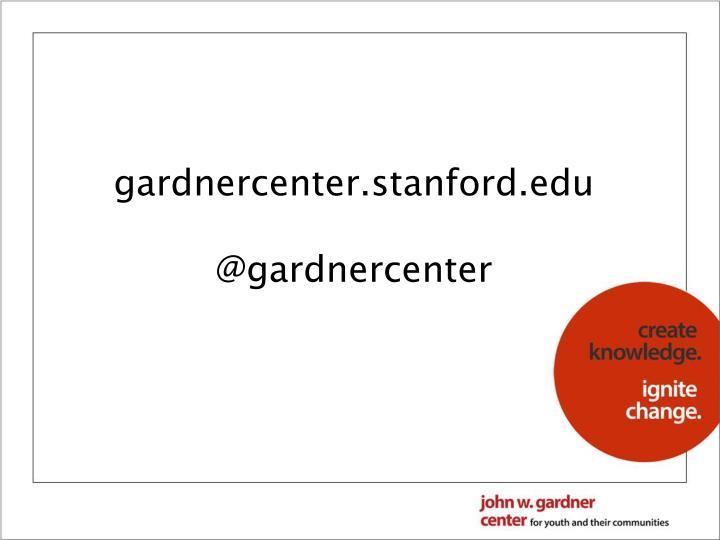 gardnercenter.stanford.edu