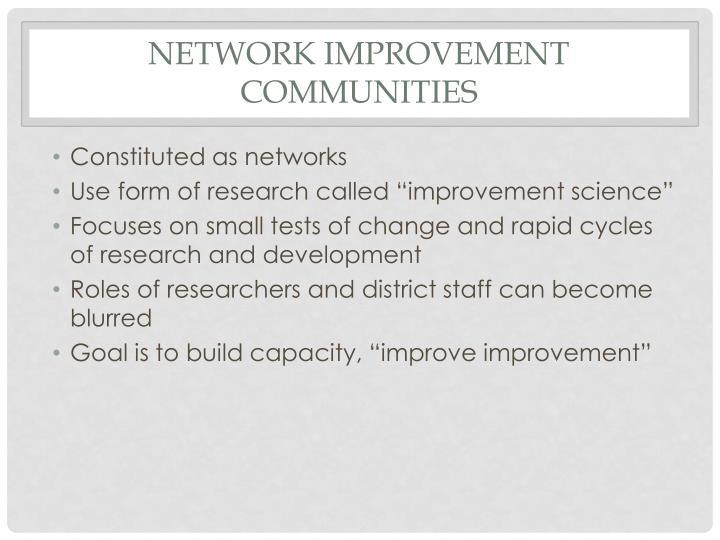 Network Improvement Communities