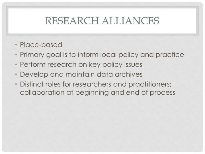 Research Alliances