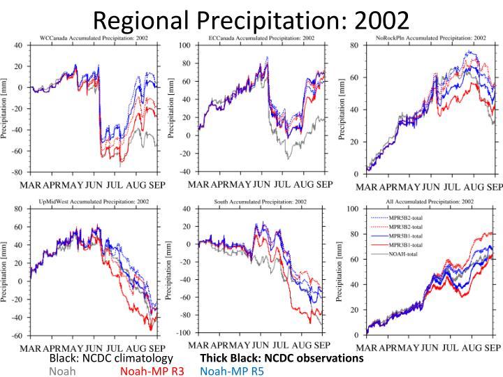 Regional Precipitation: 2002