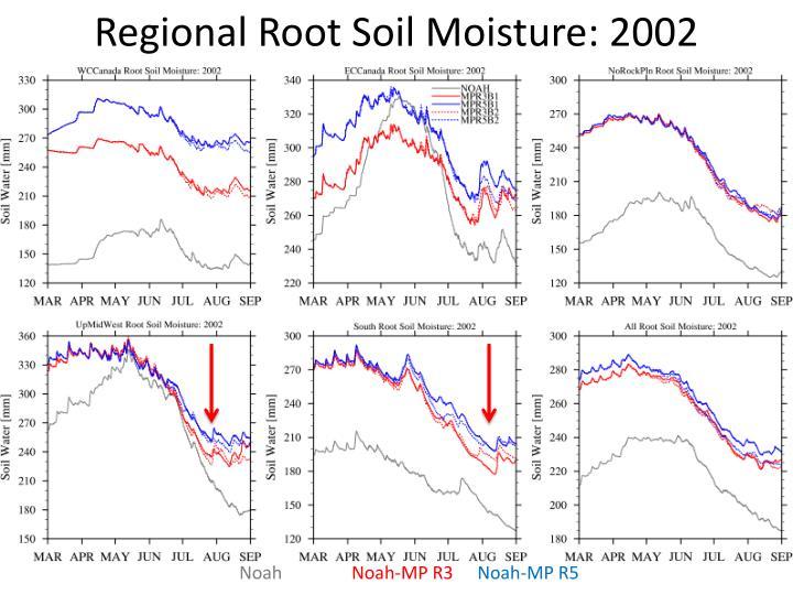 Regional Root Soil Moisture: 2002