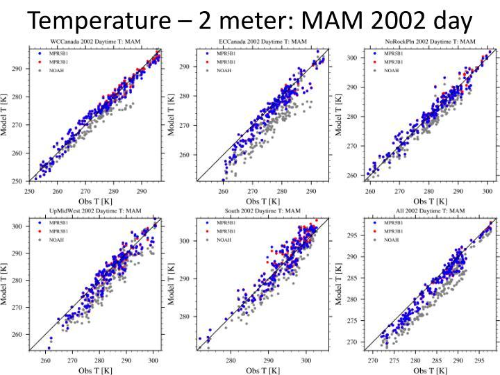 Temperature – 2 meter: MAM 2002 day