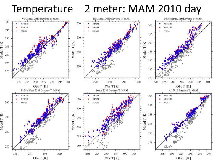 Temperature – 2 meter: MAM 2010 day