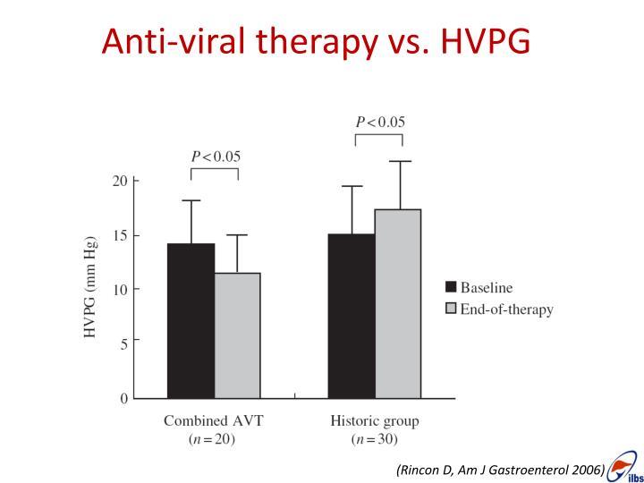Anti-viral therapy vs. HVPG
