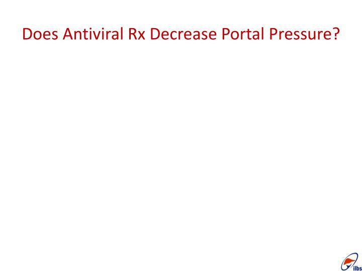 Does Antiviral