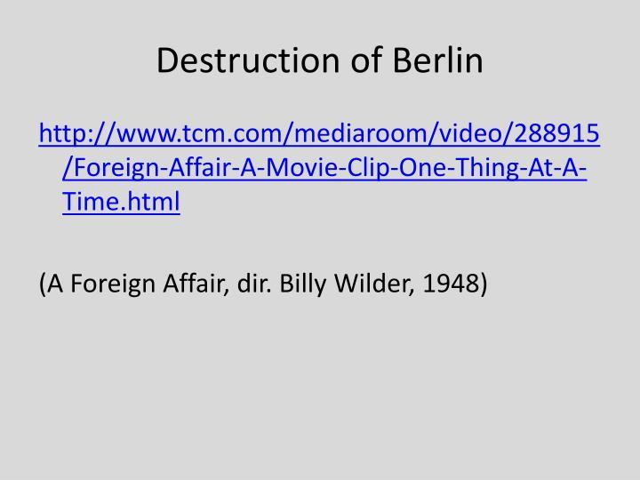 Destruction of Berlin