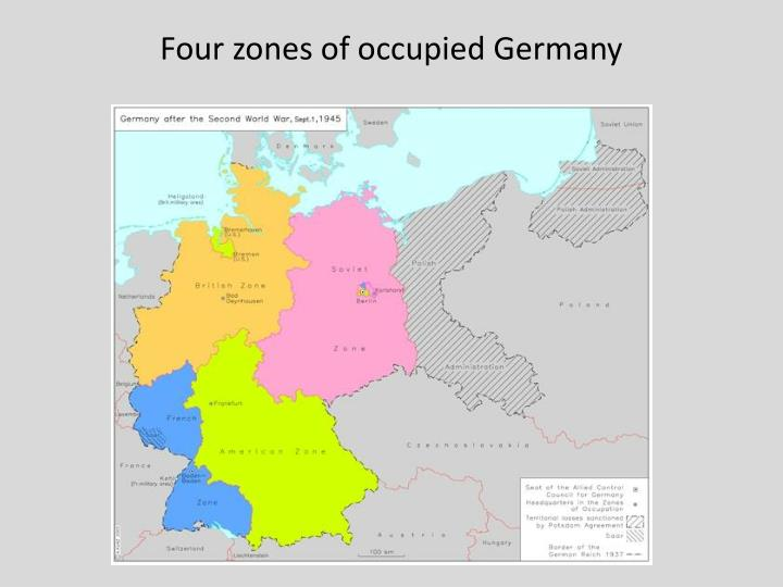 Four zones of occupied Germany