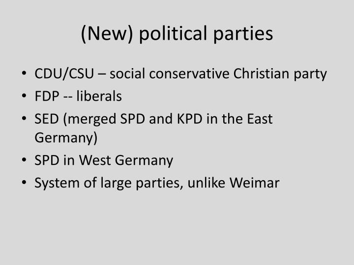 (New) political parties