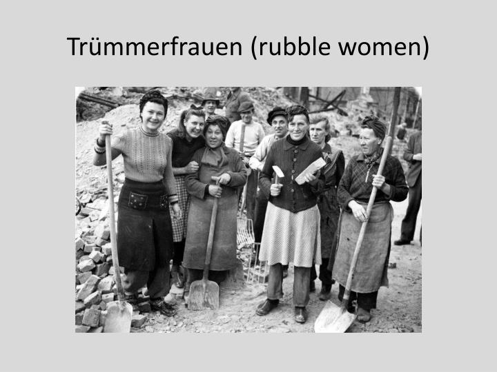 Trümmerfrauen