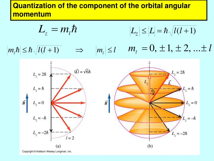 Quantization of the component of the orbital angular momentum