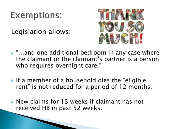 Exemptions: