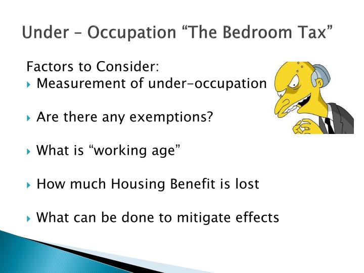 """Under – Occupation """"The Bedroom Tax"""""""