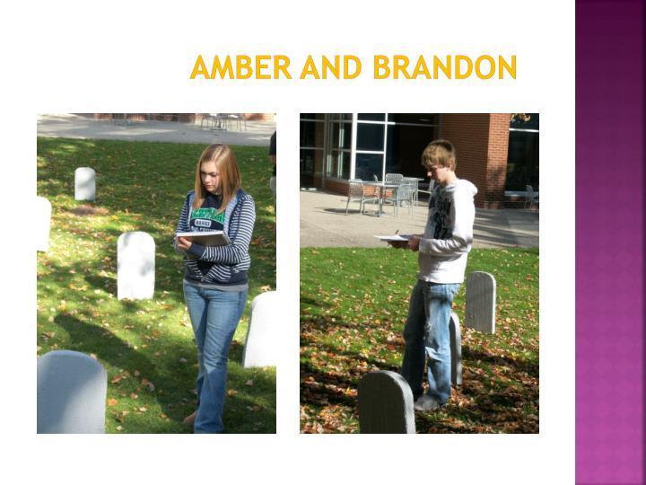 Amber and Brandon