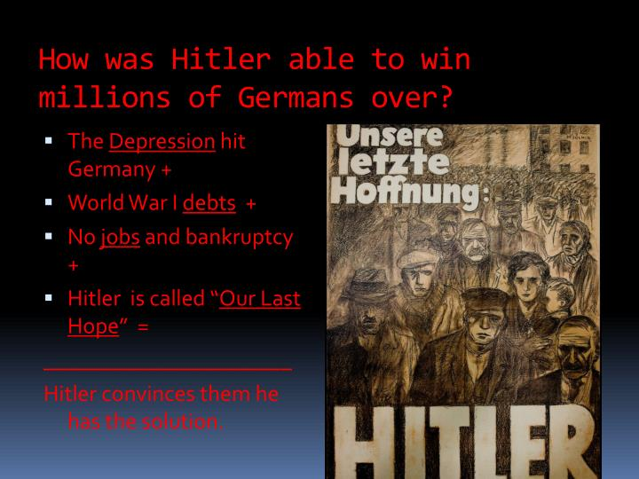 How was Hitler able to win millions of Germans over?