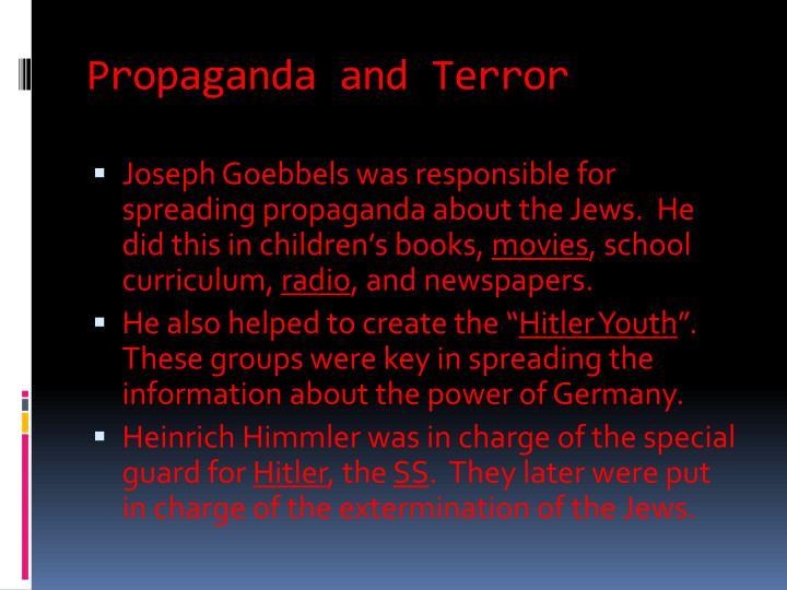 Propaganda and Terror