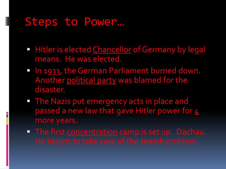 Steps to Power…
