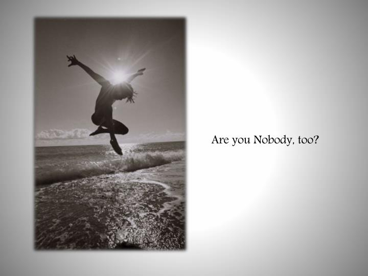 Are you Nobody, too?
