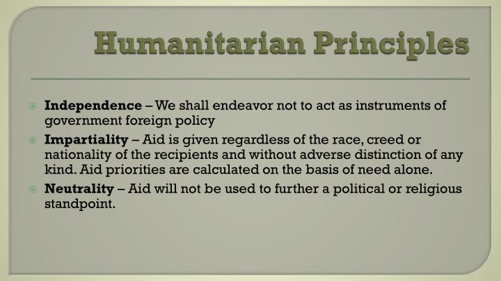 Humanitarian Principles
