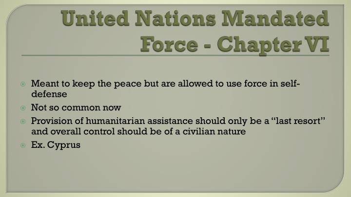 United Nations Mandated Force