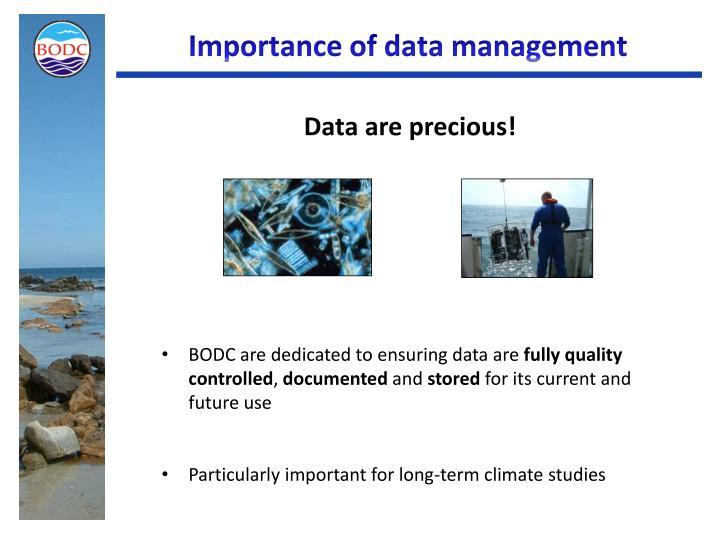 Importance of data management