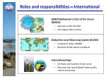 roles and responsibilities international