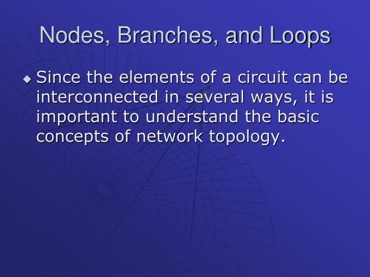 Nodes branches and loops1