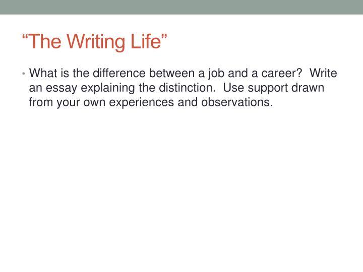 """The Writing Life"""