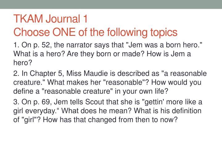 TKAM Journal 1