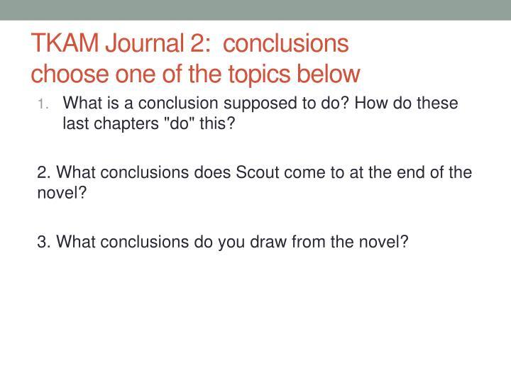 TKAM Journal 2:
