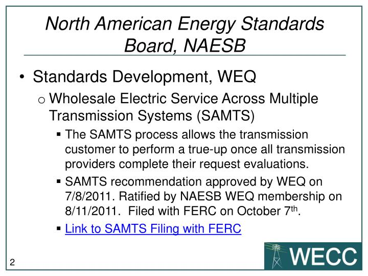 North American Energy Standards Board, NAESB