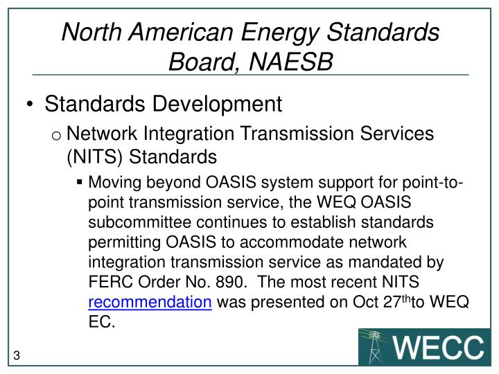 North american energy standards board naesb1